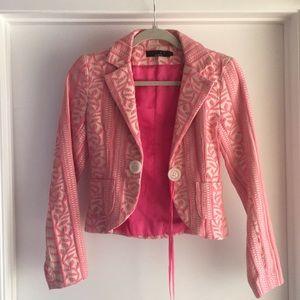 Unique Pink Embroidered Blazer